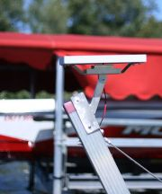solar charger for boat lifts or other 12 or 24 volt marine equipment