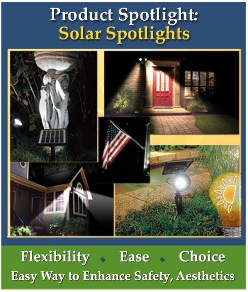 Product Spotlight on Outdoor Solar Spot Lights