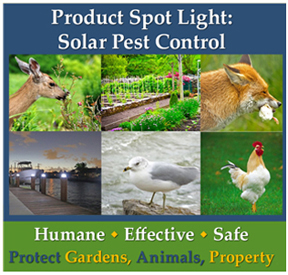 product spotlight on solar pest control. humane effective ways to get rid of nuisance animals