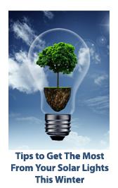 Tips for best solar lighting performance during winter