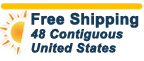 free shipping within contiguous United States