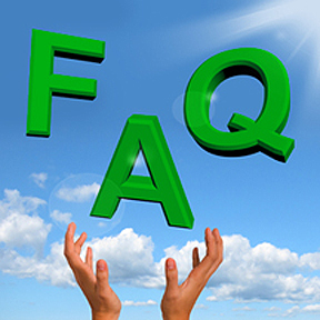 FAQ icon with clean sky