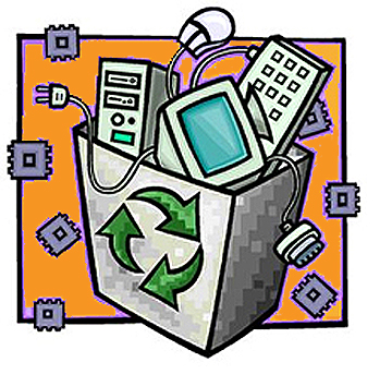 most recycling centers have special protocols for old electronics