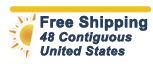 no shipping fees 48 contiguous US_