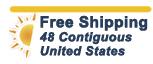 no shipping fees 48 contiguous US_